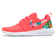 Кроссовки Женские Nike Roshe Run Coral Flower Print