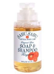 Тонизирующий гель для душа и шампунь 2 в 1 с маслом мандарина, Sabu-Sabu