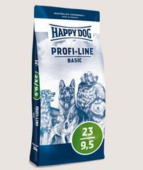 Happy Dog Profi-Line Basic 23/9,5 для взрослых собак с нормальными потребностями в энергии