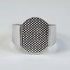 Основа для кольца с площадкой 15х11 мм (цвет - платина)