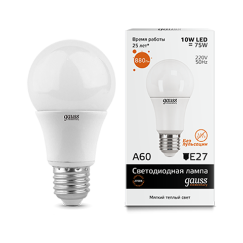 Лампа Gauss LED Elementary A60 10W E27