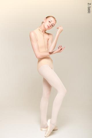 Zip leotard (nude)