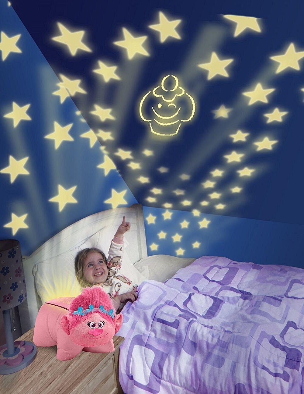 Тролли ночник с проектором Розочка