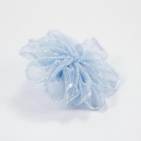 Цветочек голубой из органзы 28 мм ()