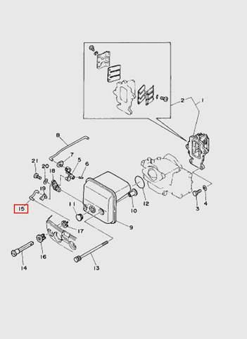 Тяга карбюратора  для лодочного мотора T15, OTH 9,9 SEA-PRO (4-15)