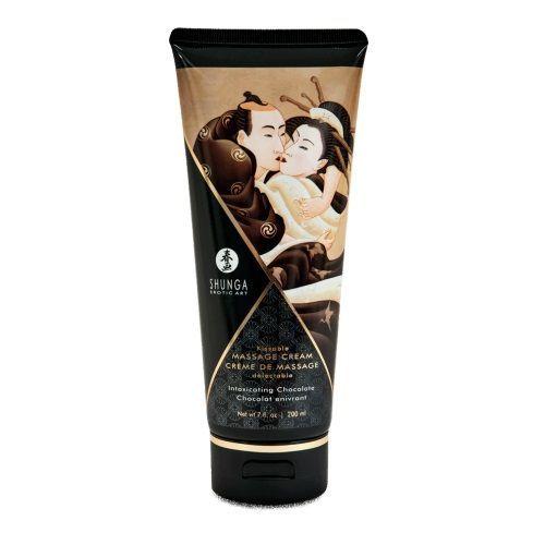 Массажные масла и свечи: Массажный крем для тела с ароматом шоколада Intoxicating Chocolate - 200 мл.