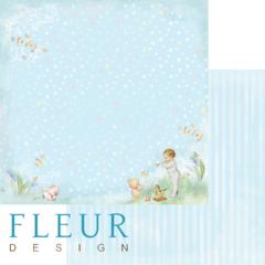 Бумага для скрапбукинга FLEUR-design, двусторонняя 30*30 см, 190 гр.