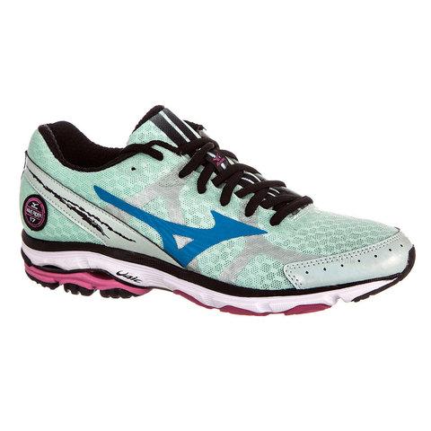 Mizuno Wave Rider 17 Кроссовки для бега женские Green/Blue/Pink