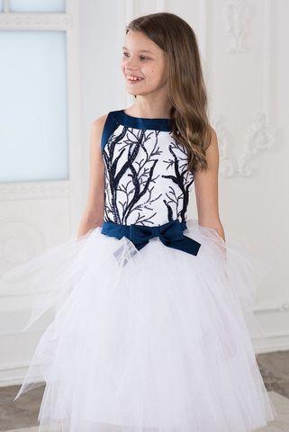 Пышное платье (арт.304 син/бел)