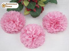 Цветок из ткани розовый