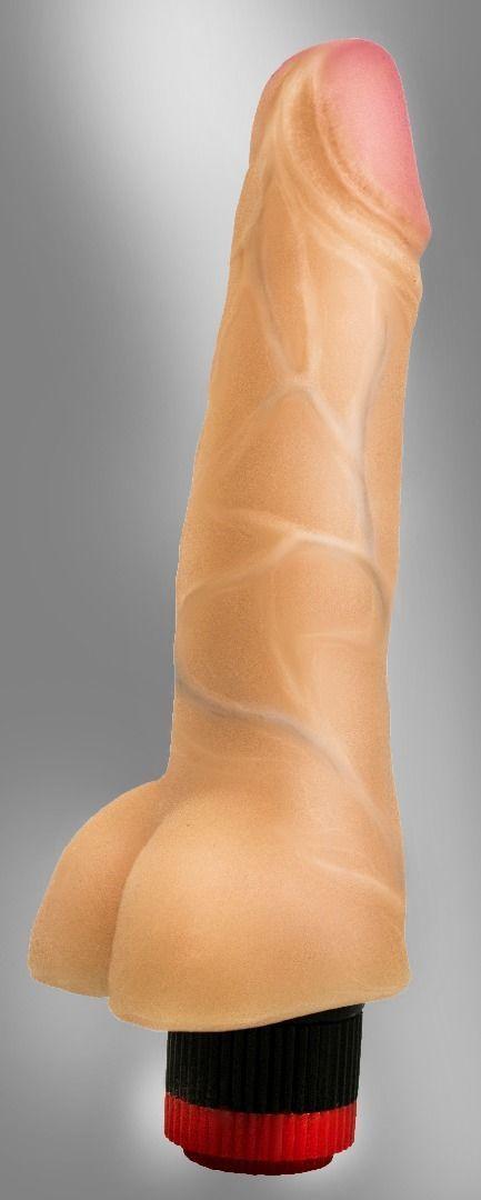 Реалистики: Реалистичный вибромассажёр COCK NEXT 6 - 17,3 см.