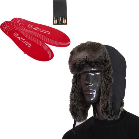 Комплект-подарок шапка с подогревом RedLaika RL-G-AA и стельки RL-ST-AA