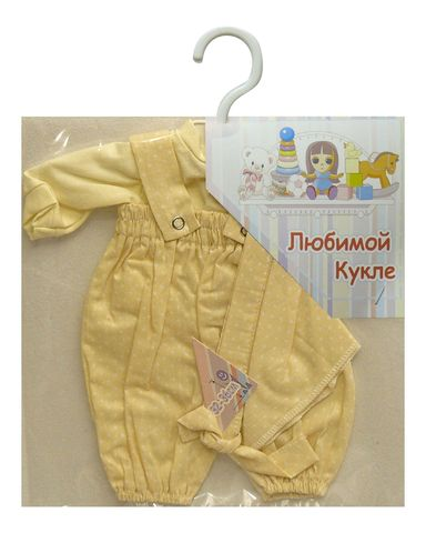 Песочник на резинке - Кремовый. Одежда для кукол, пупсов и мягких игрушек.