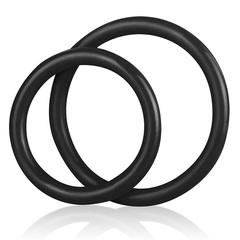 Набор из двух эрекционных колец из силикона SILICONE COCK RING SET (d. 4 и 5 см)