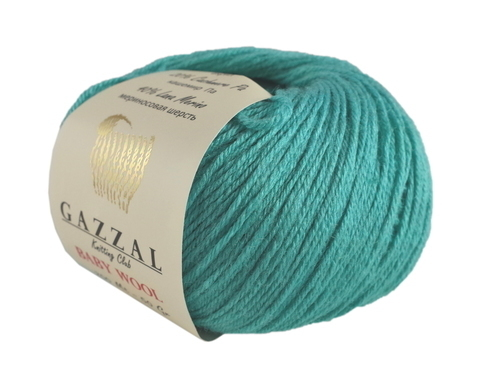 Пряжа Gazzal Baby Wool лазурь 832