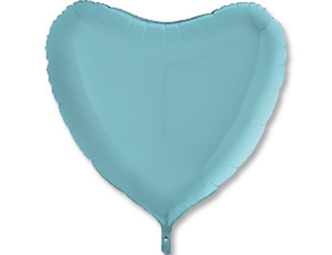 Фольгированный шар сердце голубое