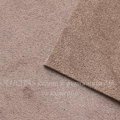 Замша натуральная, серо-коричневая, лист 21х15 см