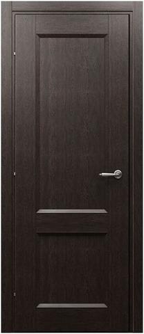 Дверь Краснодеревщик ДГ 3323, цвет чёрный дуб, глухая