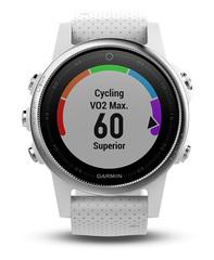 Беговые часы Garmin Fenix 5s с белым ремешком