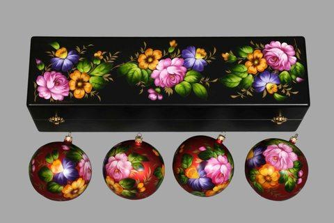 Набор из 4 елочных шаров в шкатулке SET04D-667785823