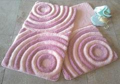 Набор ковриков для ванной DO&CO (60Х100 см/50x60 см) WAVE фото цвет пудра