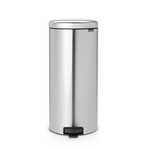 Мусорный бак newicon (30 л), металлическое внутреннее ведро, Стальной матовый, арт. 114786 - фото 1