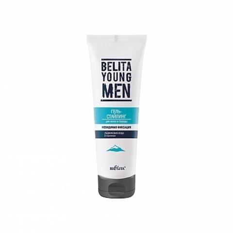 Белита Belita Young MEN Гель-стайлинг Невидимая фиксация для волос и бороды 100мл
