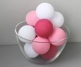 Гирлянда из тайских фонариков розовая