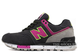 Кроссовки Женские New Balance 574 Dark Grey Pink