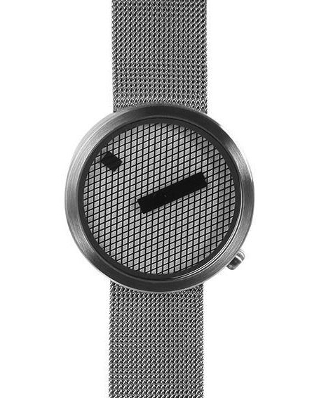 Jacquard watch mesh steel