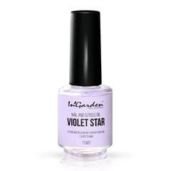 In'Garden, Сухое масло для ногтей и кутикулы с блестками, Violet star, 11 мл