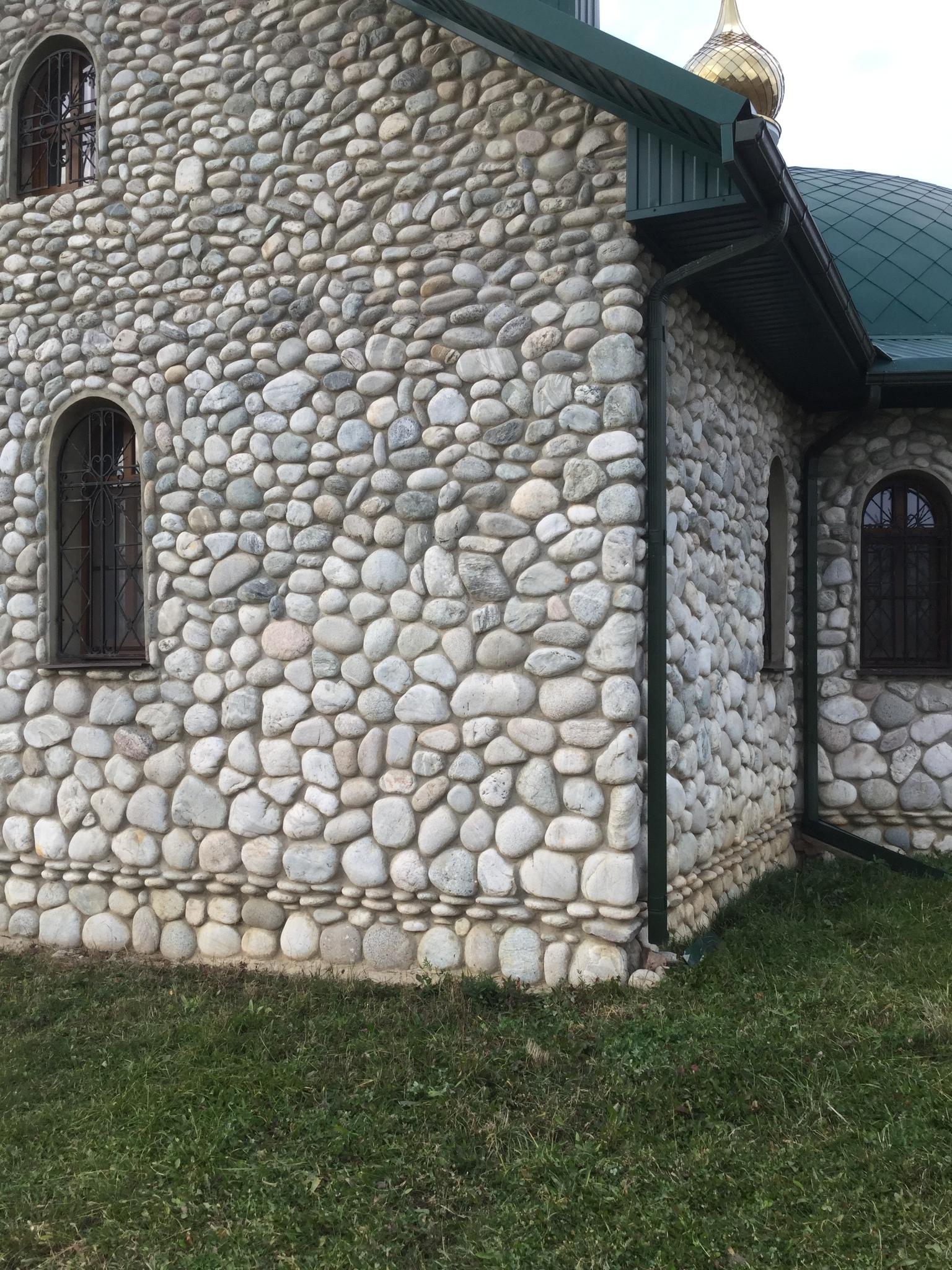 Церковь облицовка Булыжник отборный плоский Светло-серый