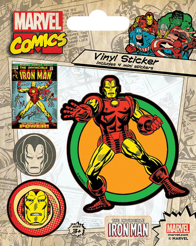 Набор стикеров Marvel Comics (Iron Man Retro)
