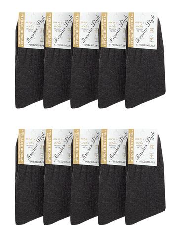 18-1 носки мужские, серые (10шт)