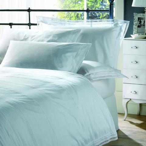 Постельное белье 2 спальное евро Bovi Афродита белое