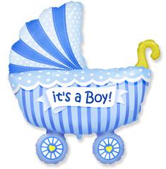 Коляска для мальчика (голубая), F  40