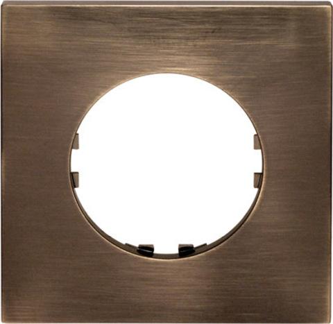 Рамка на 1 пост квадрат. Цвет Бронза. LK Studio Vintage Quadro (ЛК Студио Винтаж куадро). 884127-1