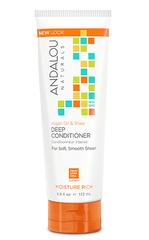 """Кондиционер для восстановления прочности и элластичности волос """"Аргановое масло и масло Ши"""", Andalou Naturals"""