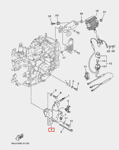 Кронштейн-держатель для лодочного мотора F20 Sea-PRO (13-4)