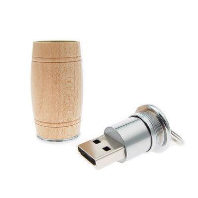 usb-флешка деревянная бочка оптом