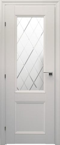 Дверь Краснодеревщик ДО 3324, цвет белый, остекленная