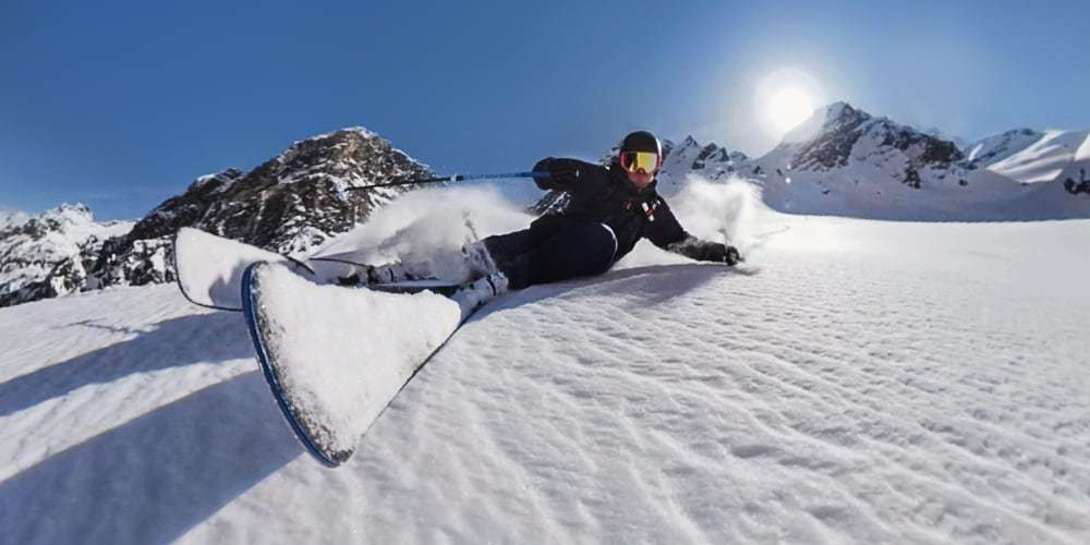 Экшн-камера GoPro MAX ЖК-экран лыжник
