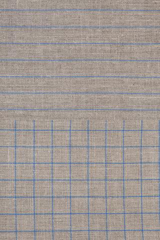 Набор полотенец 2 шт Luxberry Timeless maxi натуральный/синий