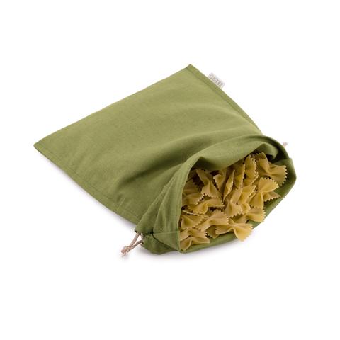 Экомешочек льняной зеленый 25Х33 см