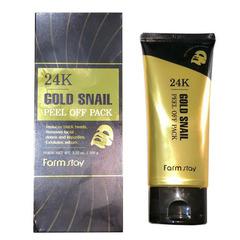 Farmstay 24K Gold Snail Peel Off Pack - Маска-пленка с золотом и муцином улитки