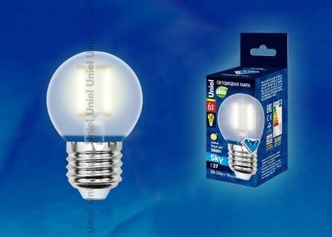 Uniel Лампа LED-G45-6W/WW/E27/FR Sky шарик (теплый свет)