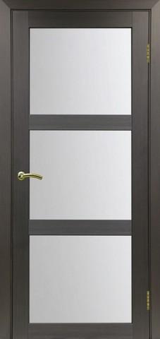 Дверь Optima Porte Турин 530.222, стекло матовое, цвет венге, остекленная