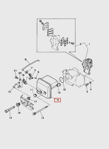 Воздухозаборник в сборе  для лодочного мотора T15, OTH 9,9 SEA-PRO (4-9)