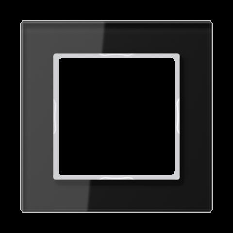 Рамка на 1 пост. Цвет Чёрный глянцевый. JUNG A CREATION. AC581GLSW