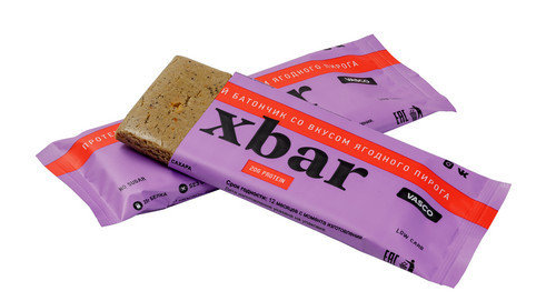 Протеиновый батончик «Xbar» со вкусом  ягодного пирога Vasco nutrition 60 гр